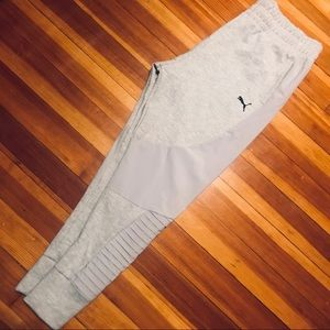 Puma gray jogger pants large